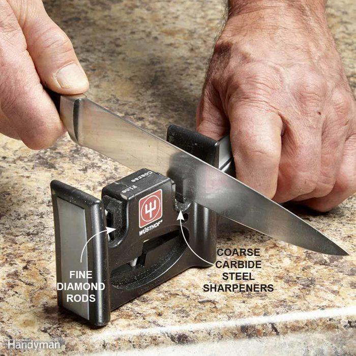 Use a Handheld Sharpener On Kitchen Knives