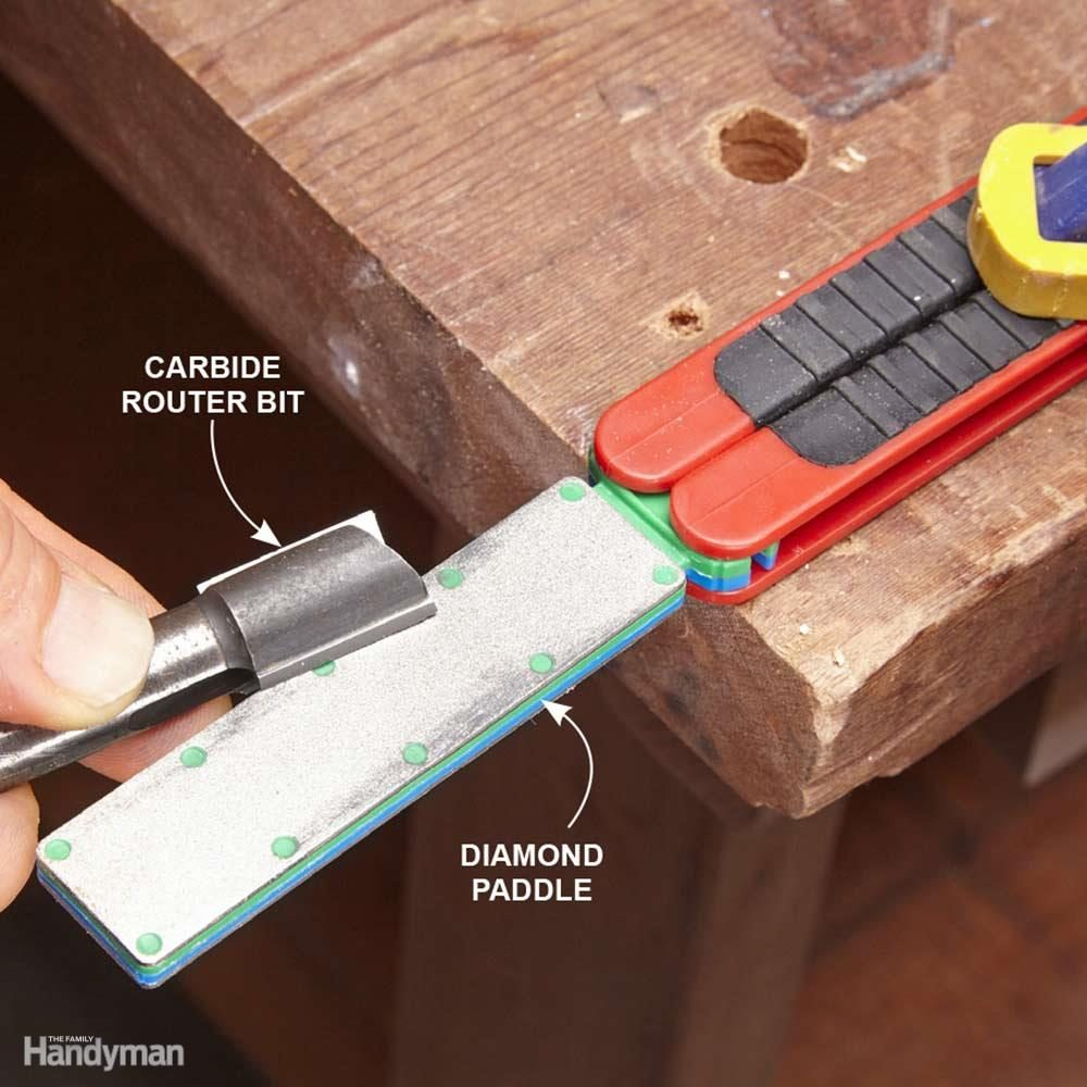 Tune Up Carbide Router Bits With a Diamond Paddle
