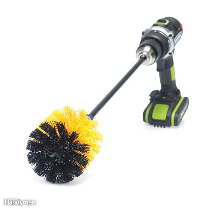 Brush with a Drill
