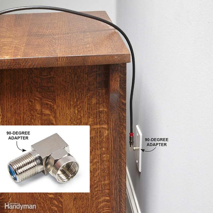 Avoid Sharp Bends with Coaxial Cable
