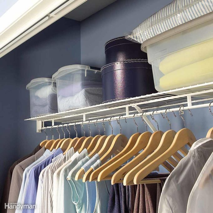Keep Closets Clear for Easy Cleaning