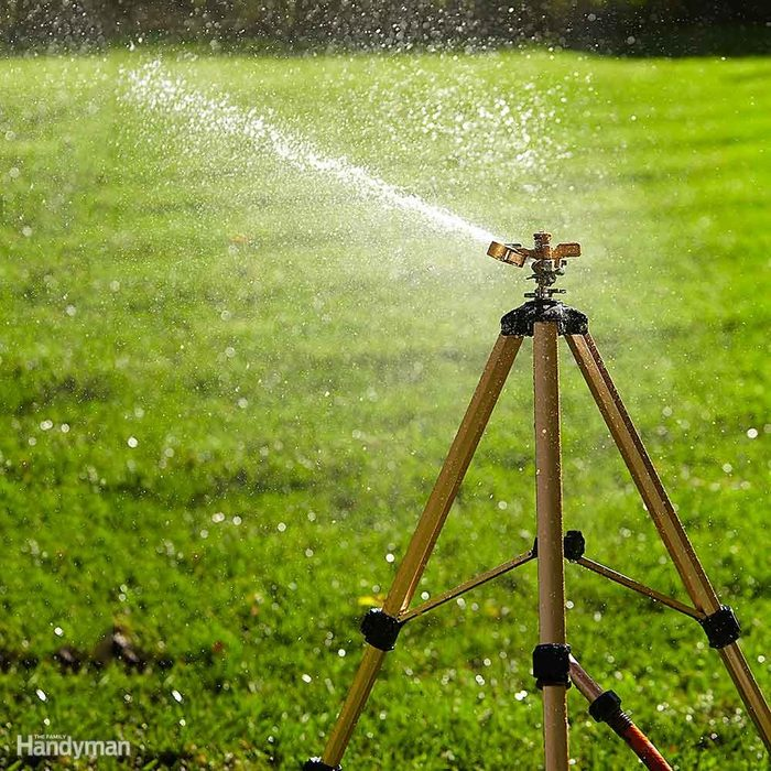 Best Way to Water Lawn: Buy an Impact Sprinkler on a Tripod