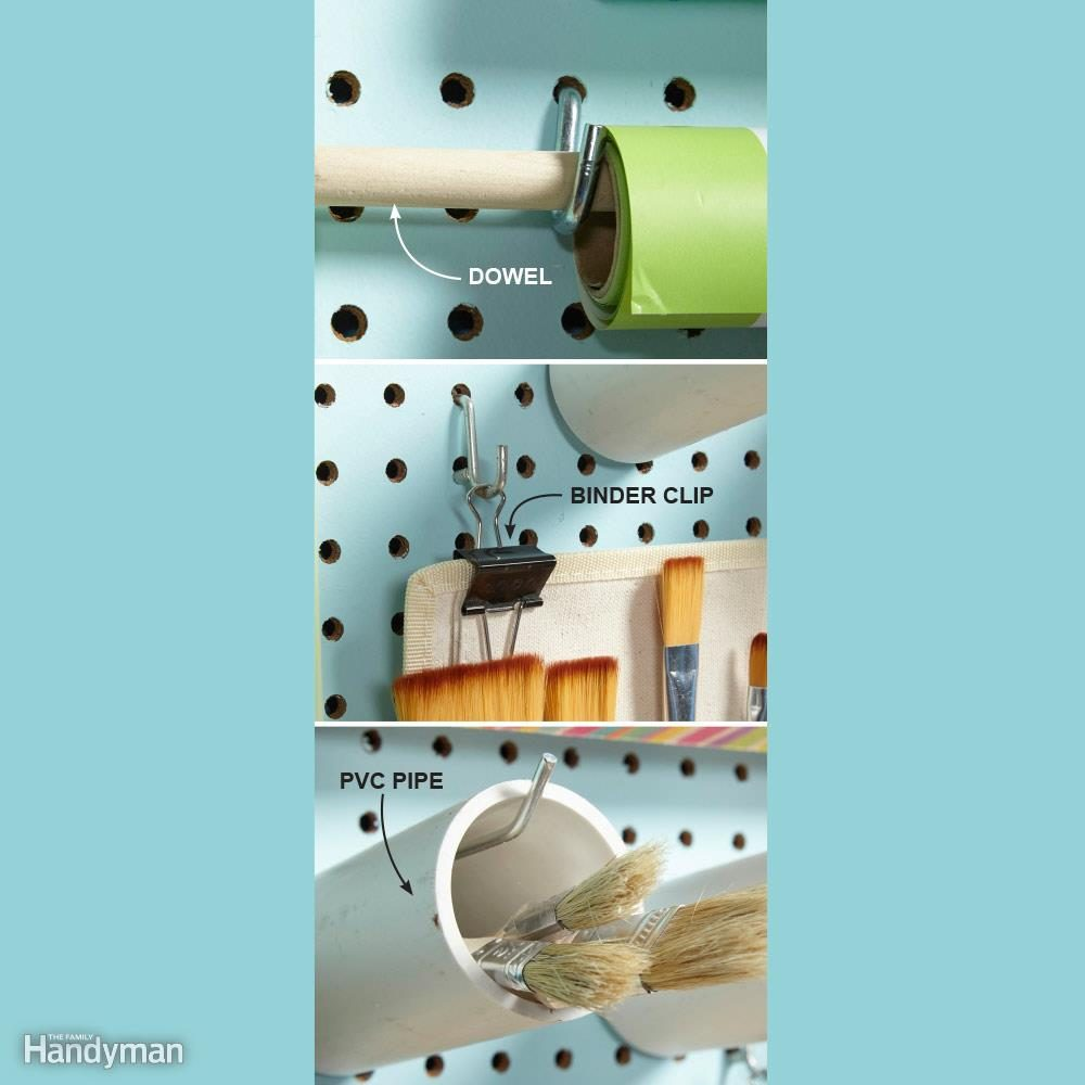 Make Pegboard Hooks Hold More