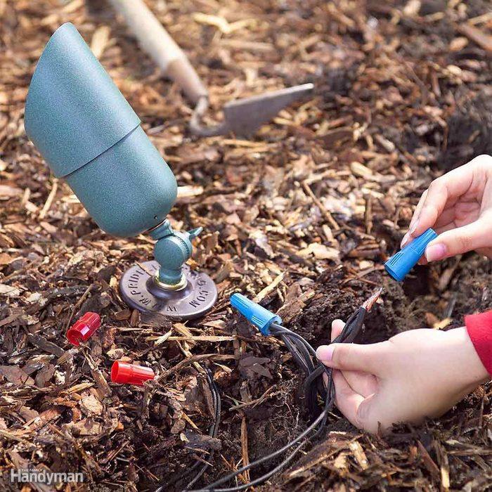 Install Underground Wiring After Planting