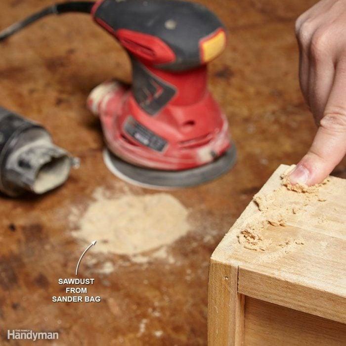 Glue + Sawdust = Wood Filler