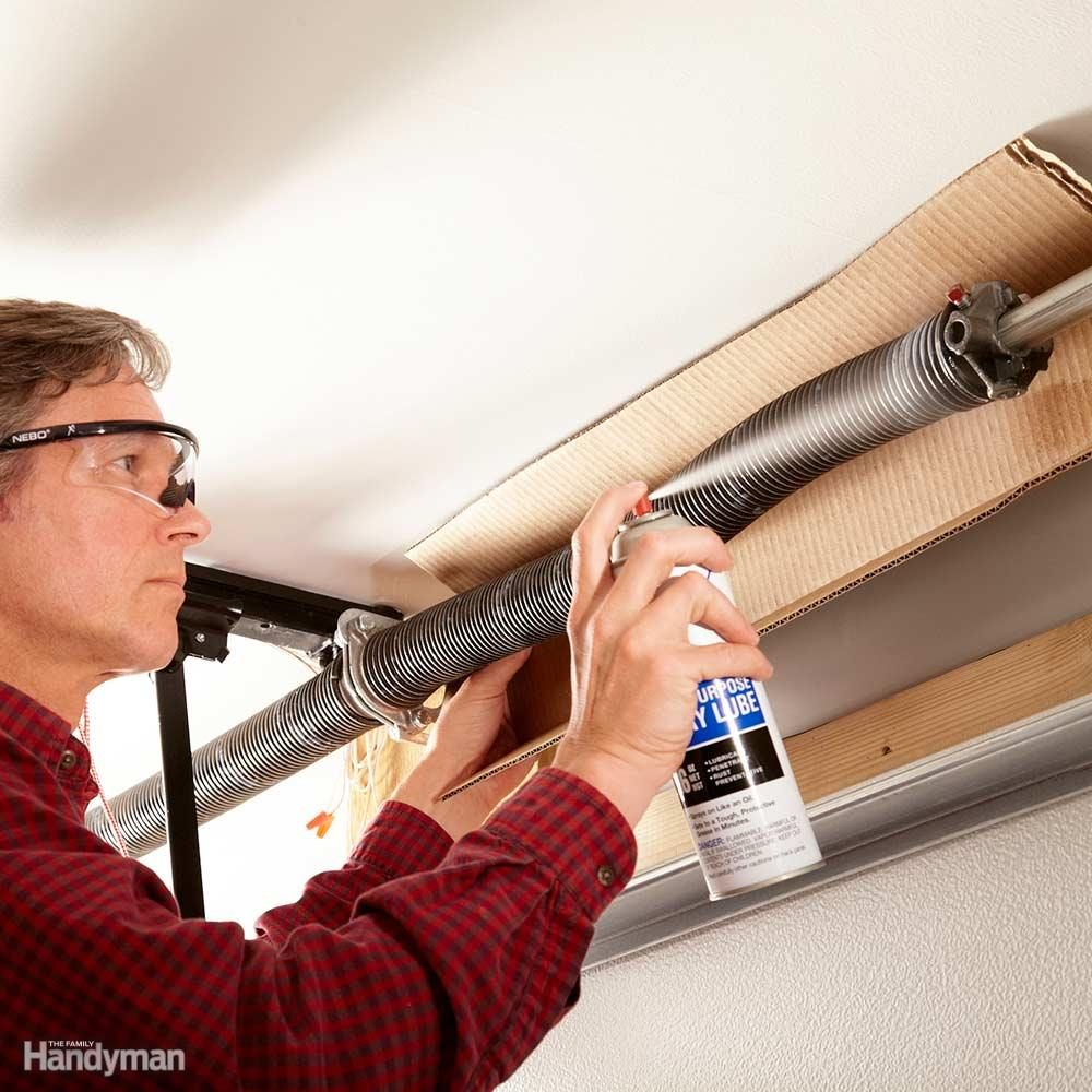 Lube Garage Door Springs or Replace Them Sooner Rather Than Later