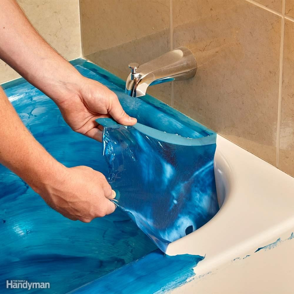 Paint-on Tub Protection