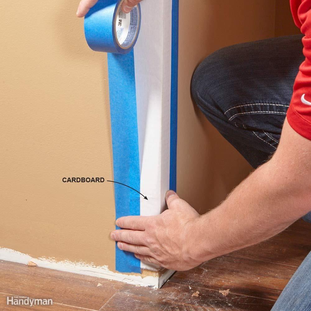 Protect Corners with Cardboard
