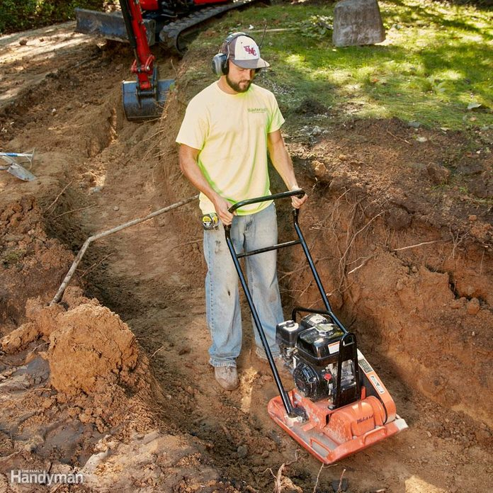 Compact the trench