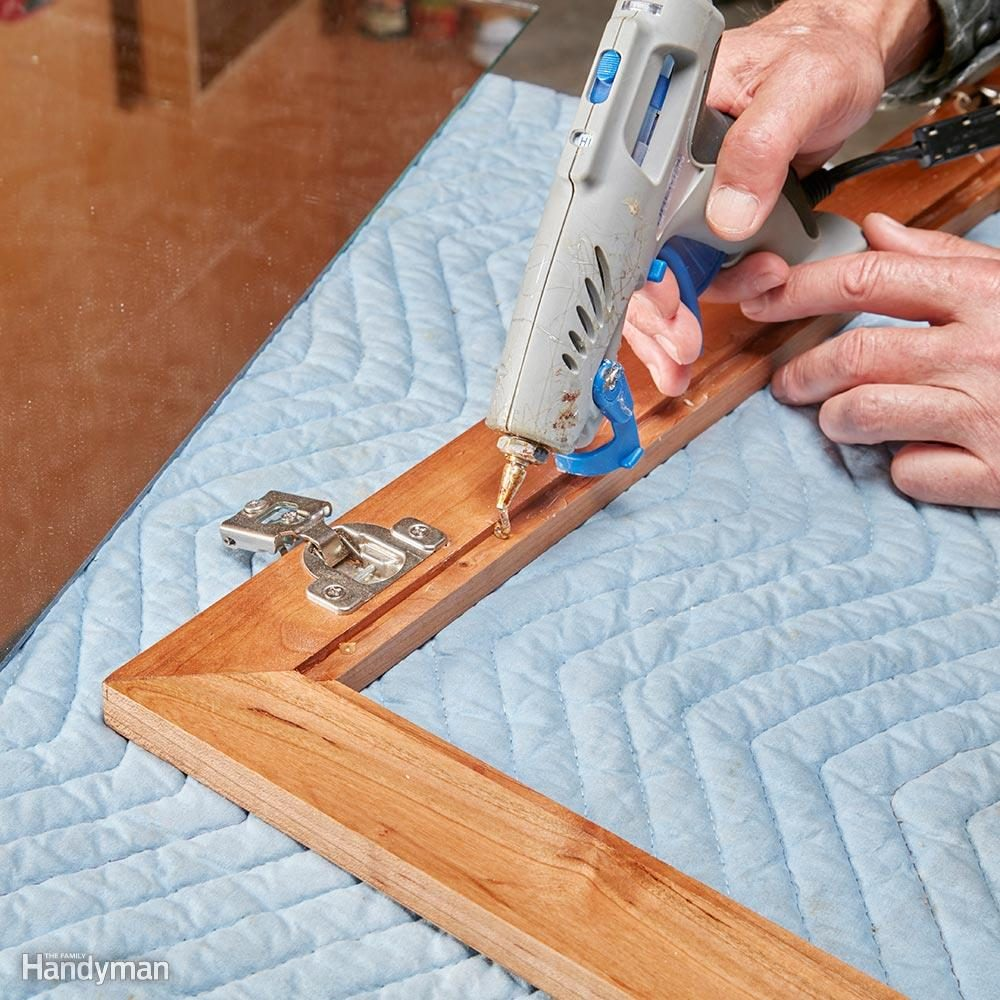 Hot Glue Gun Uses: Secure Mirrors or Glass in Cabinet Doors