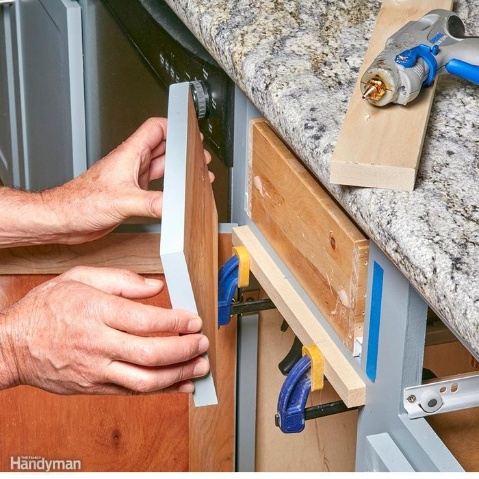 Hot Glue Gun Uses: Position Drawer Fronts