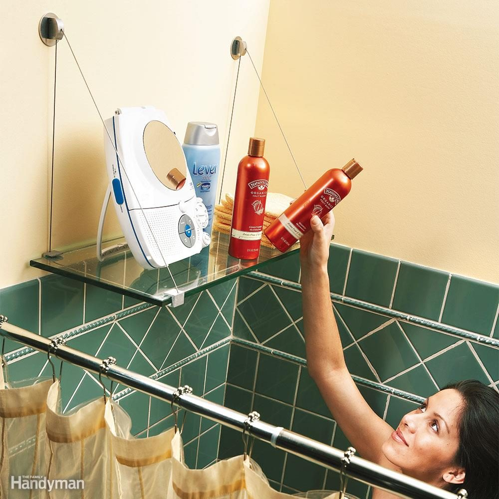 Glass Shower Shelf