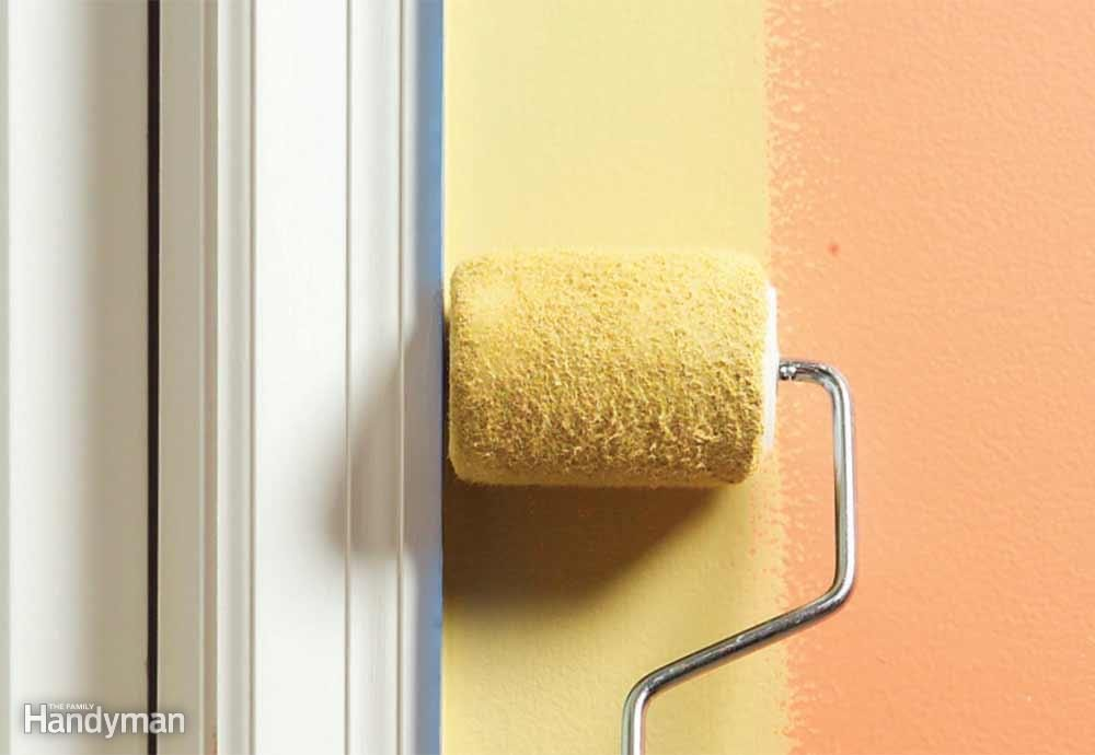 Roll Paint Along Trim and Corners