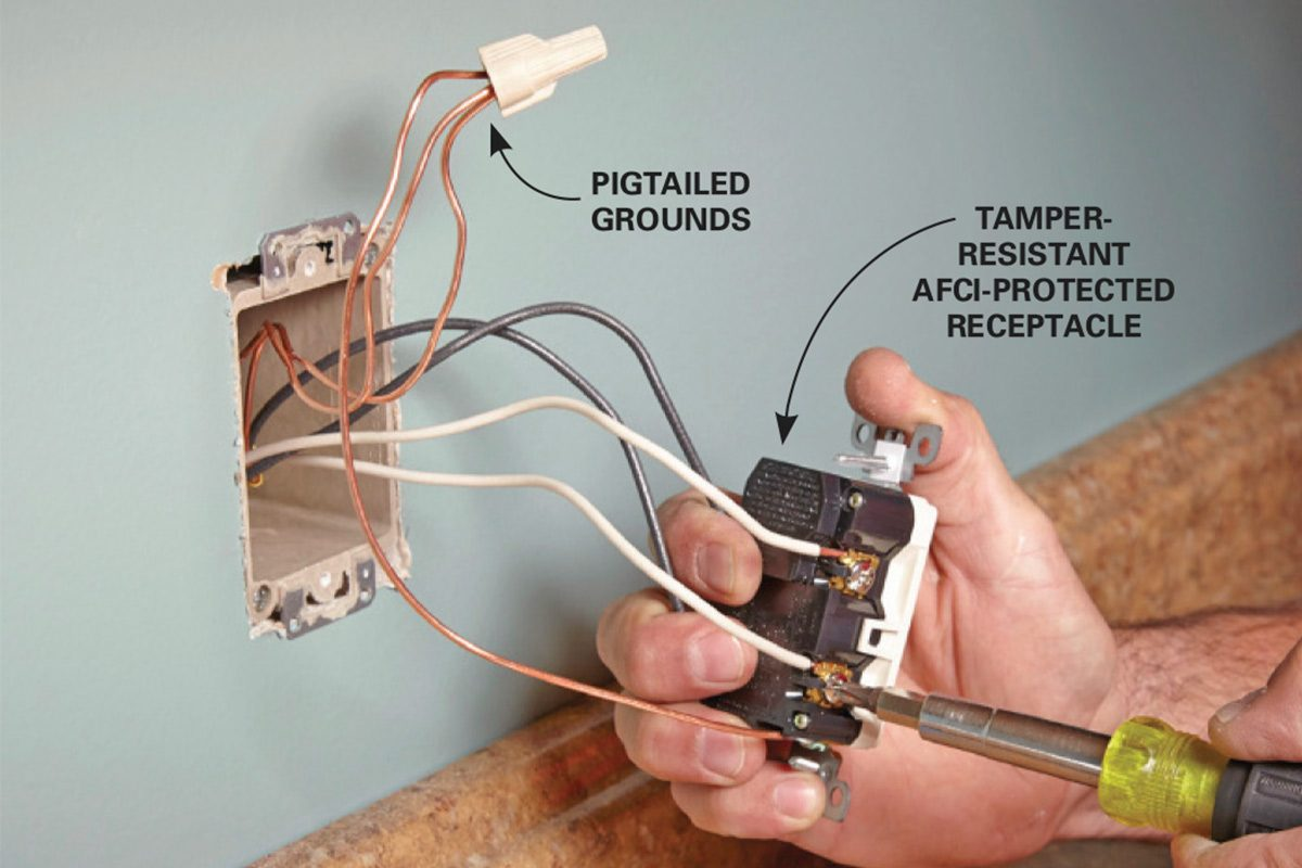 wire new receptacles