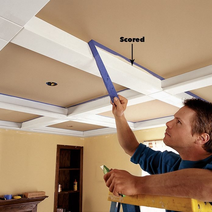 pull the tape ceiling panels
