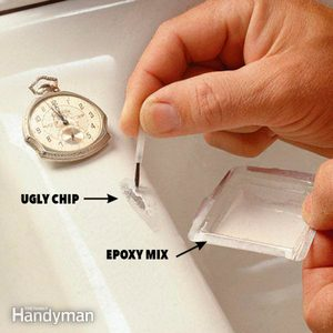 How to Fix a Chipped Sink
