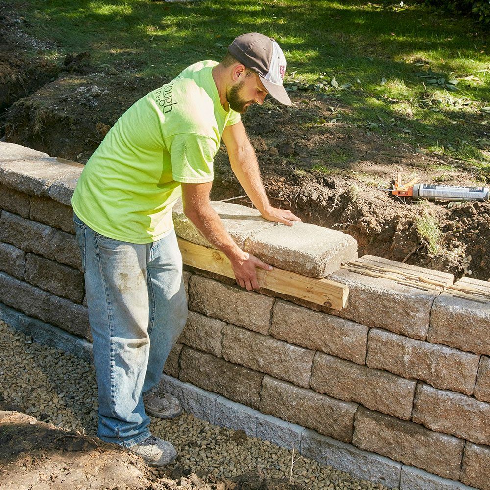 Lining up the capstones | Construction Pro Tips