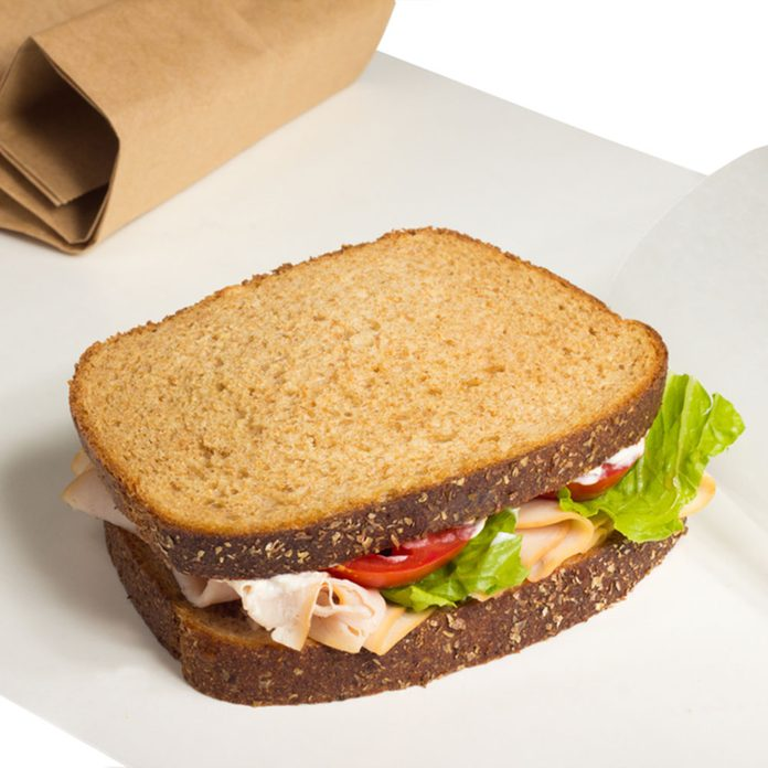 whole wheat bread sandwhich