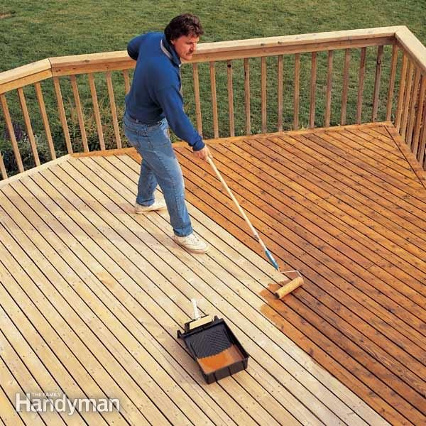 Step six: Remove flaking deck stain