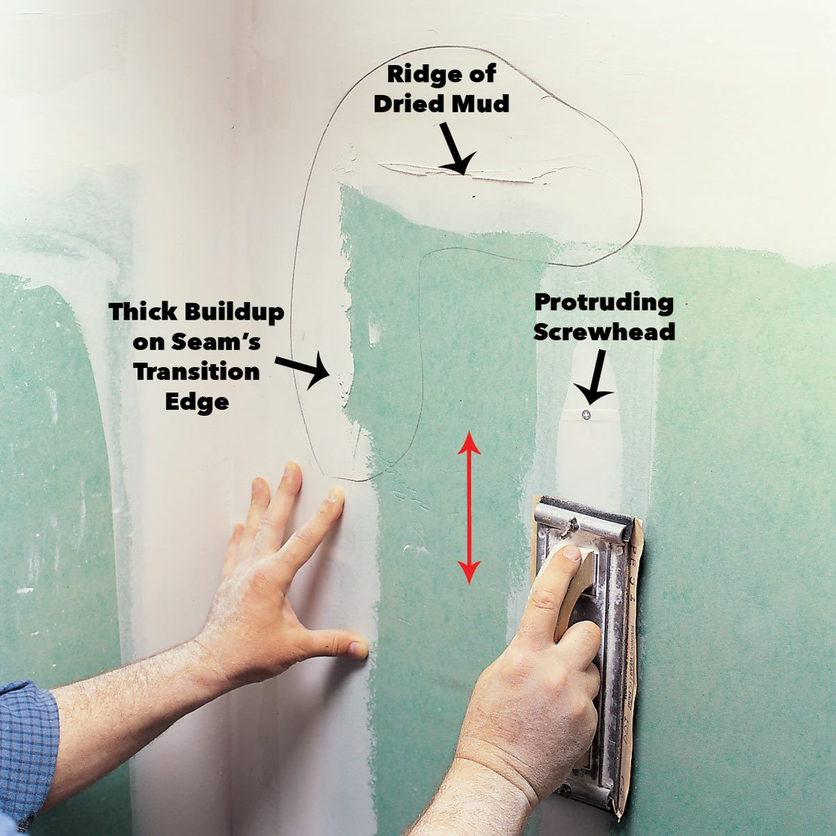 3 common drywall sanding problems