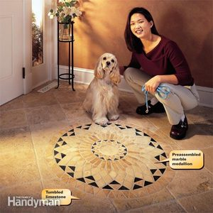 How to Install Marble Tile Floor: A Tumbled Stone Entryway