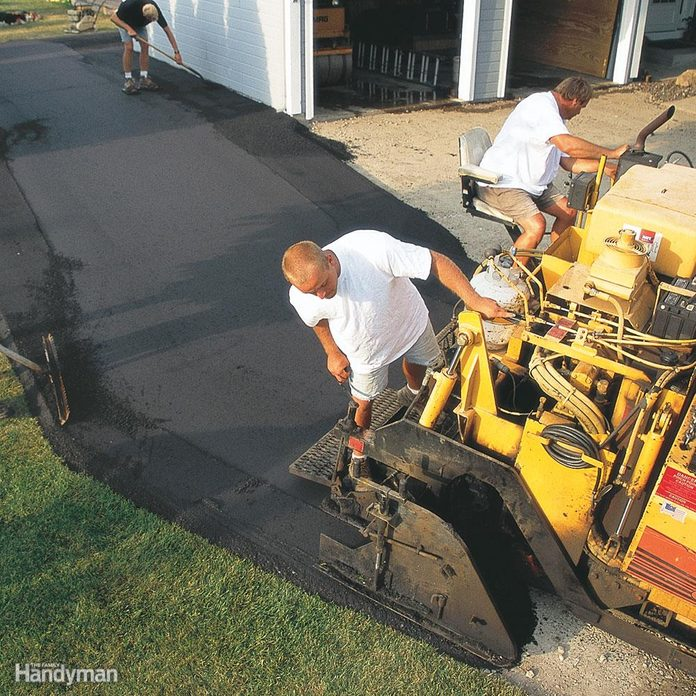 How thick will the asphalt be once it's compacted?