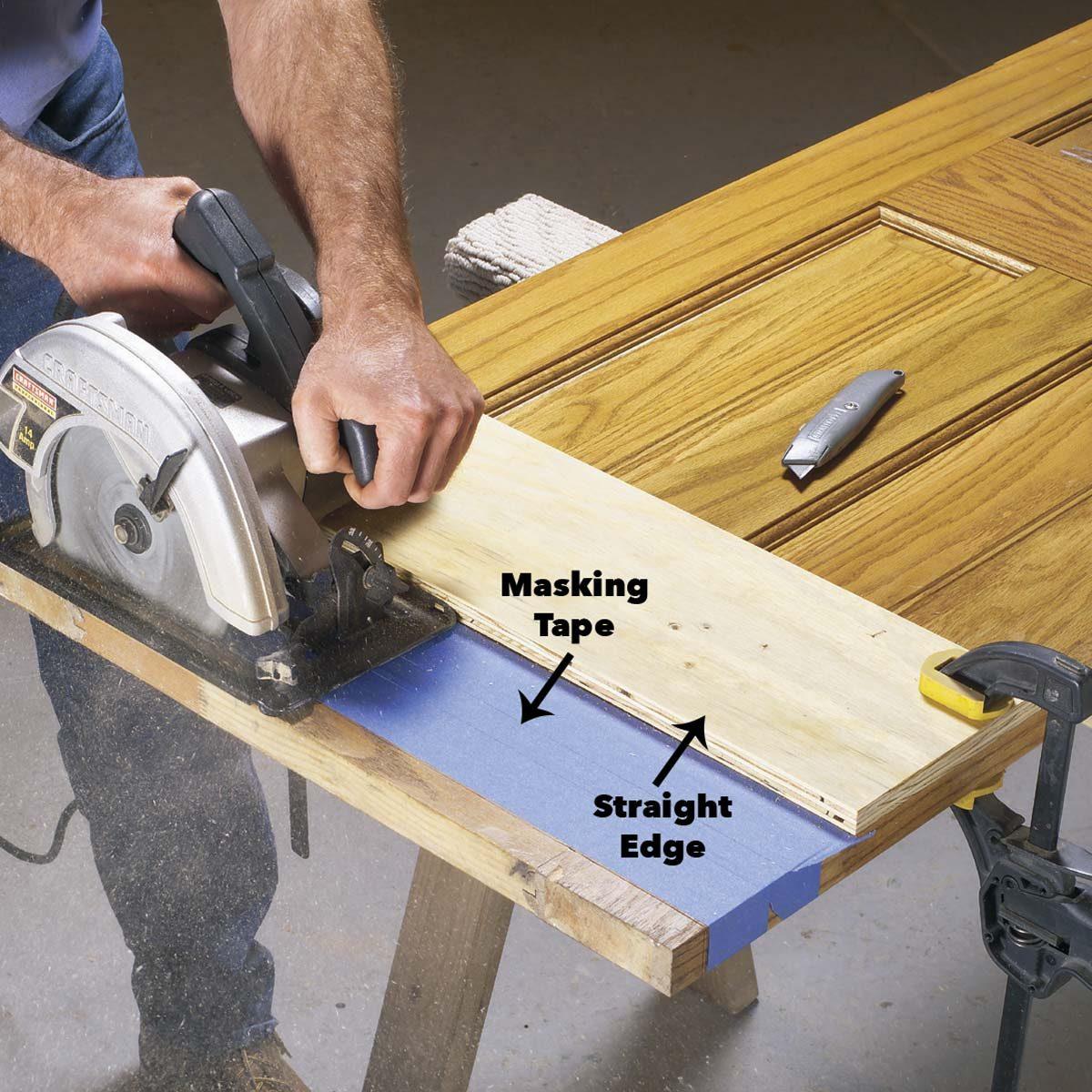 cut off bottom of wood door