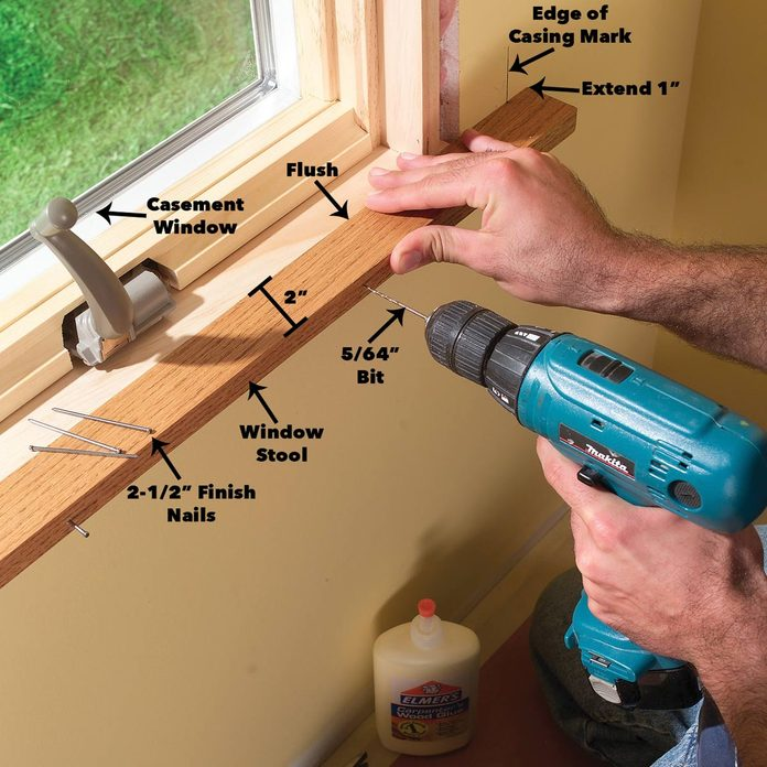 install window stool and apron