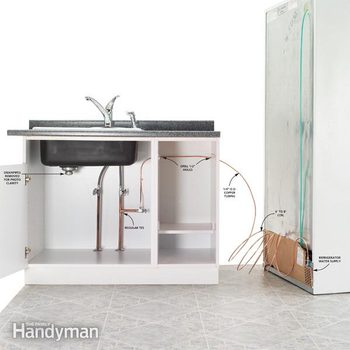refrigerator water line