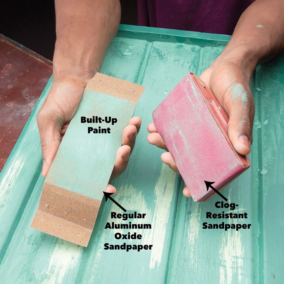 Clog resistant sandpaper