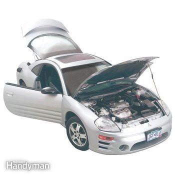 car door hinge, car door latch mechanism