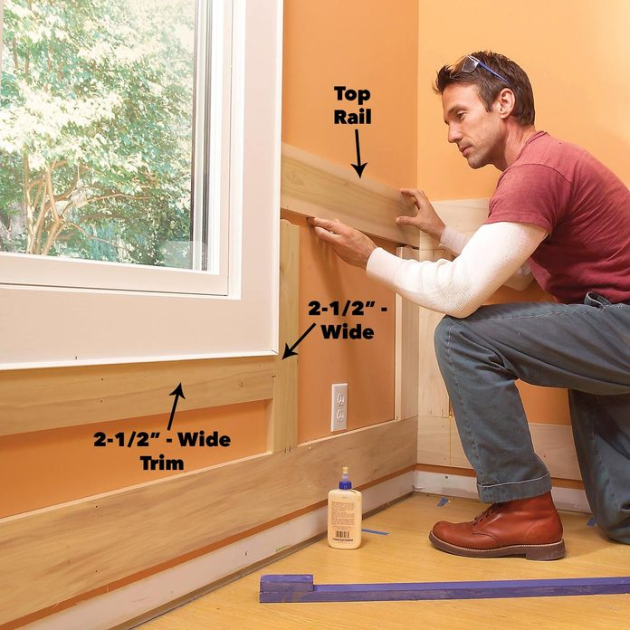 Butt Top Rails to the Window