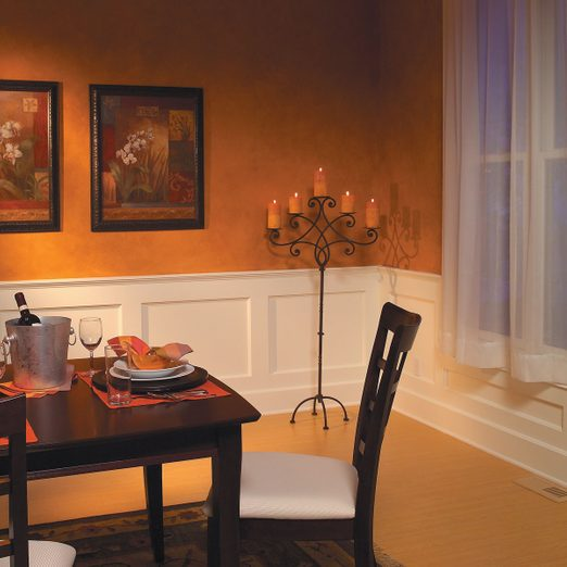 build a wainscoted wall dining room