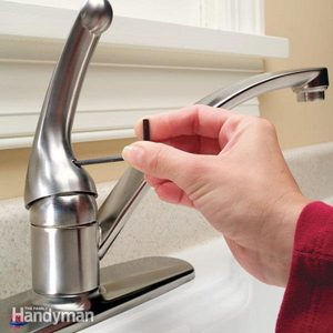 How to Repair a Single-Handle Kitchen Faucet
