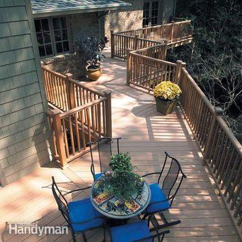 Deck rails decking rails