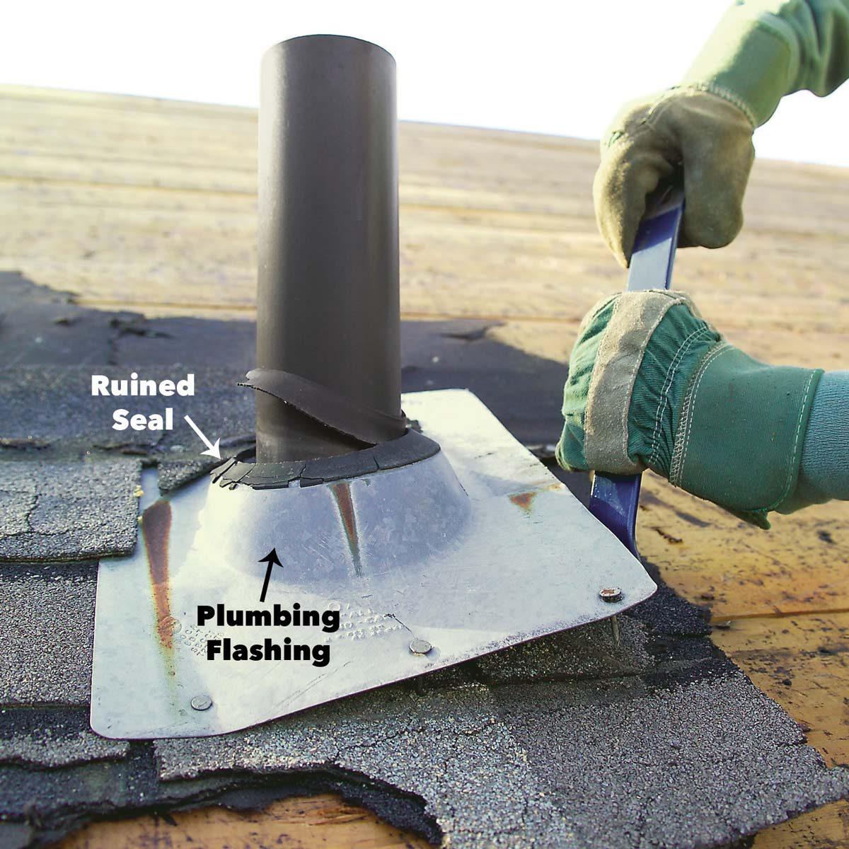 remove vent flashing