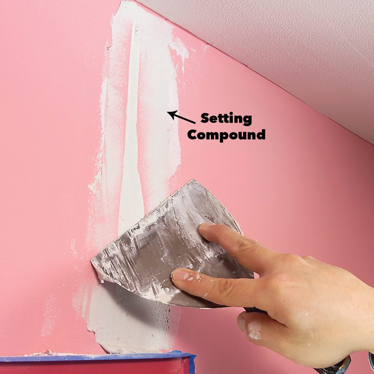 fill drywall crack with setting compound how to paint new drywall