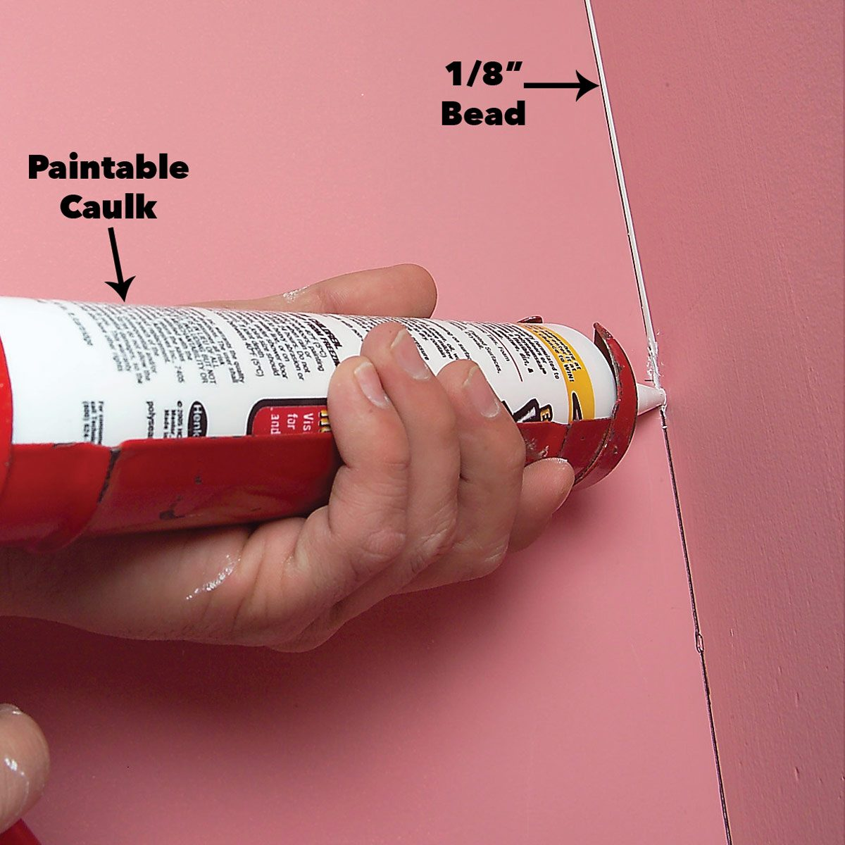 caulk inside corners