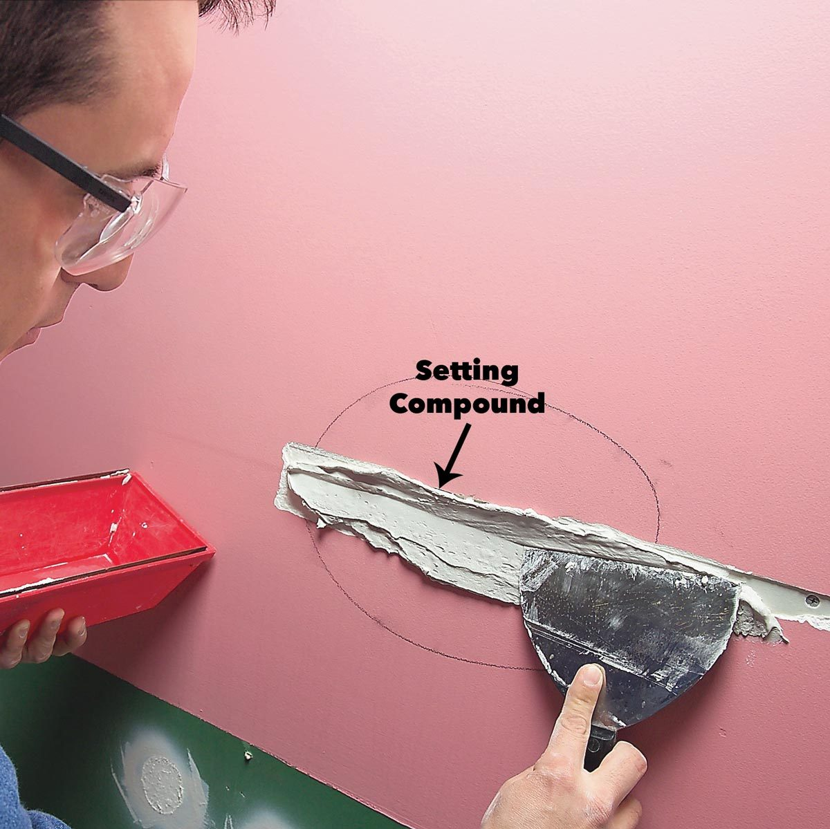 setting compound wall crack
