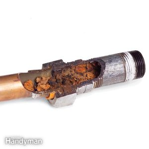 Join Galvanized Pipe to Copper Pipe