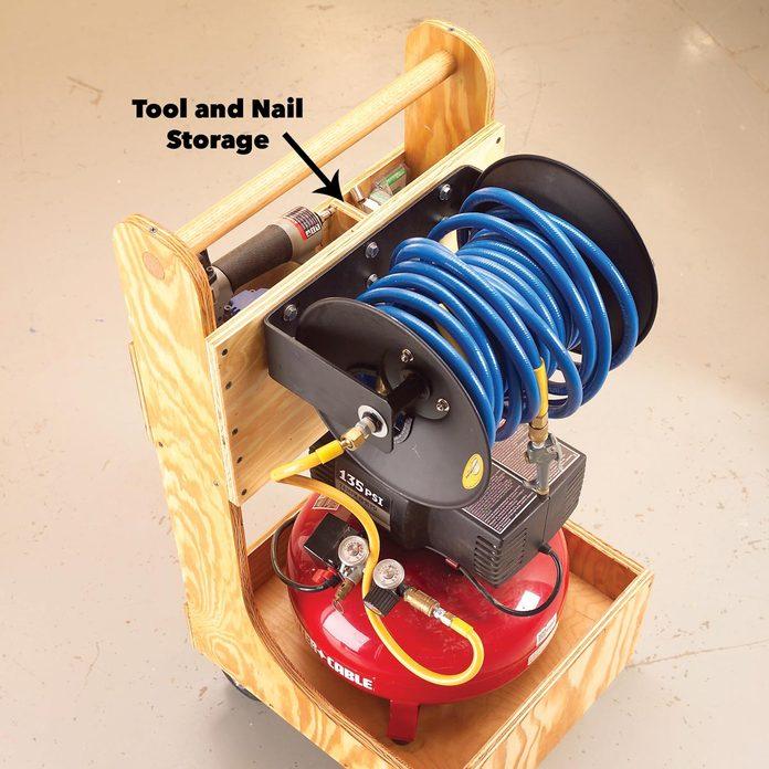 air compressor cart storage