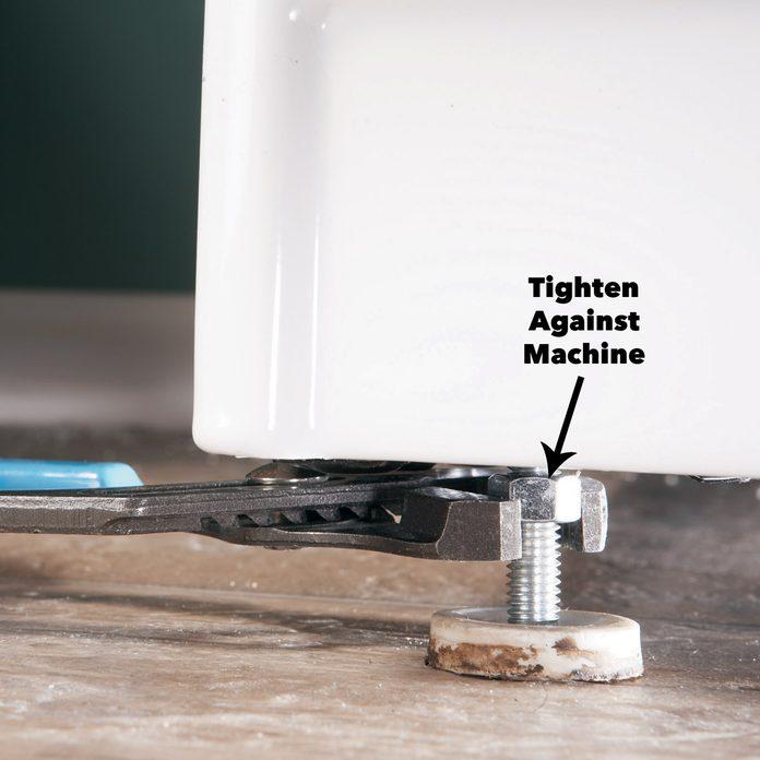 lock washing machine legs
