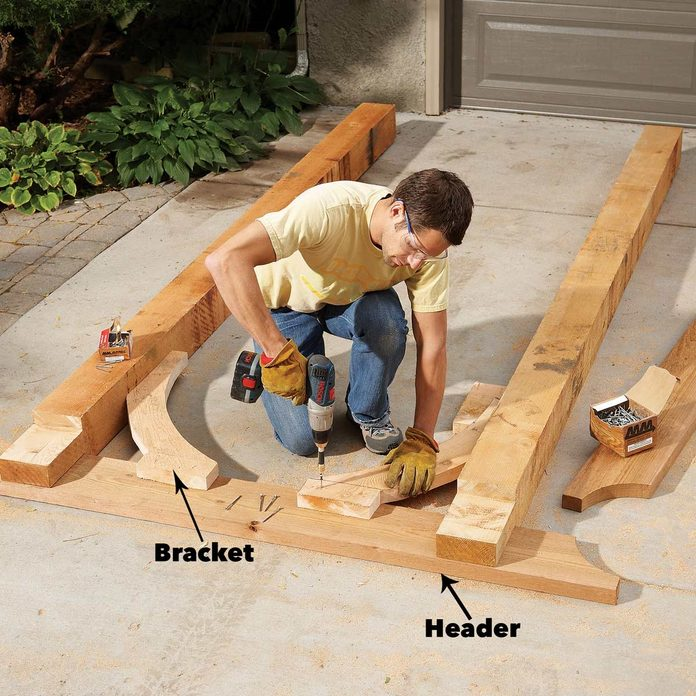 fasten the parts together garden arch