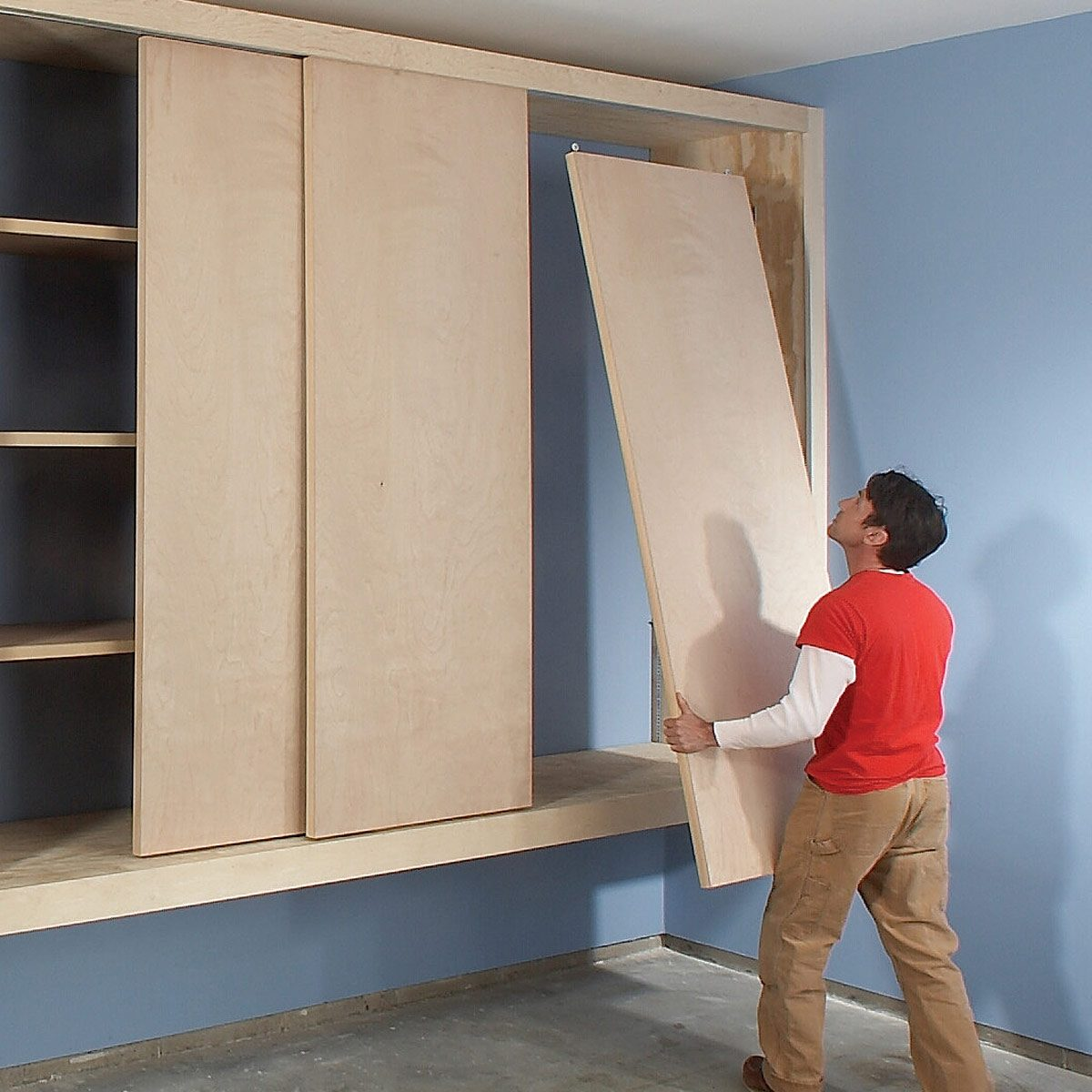 hang doors sliding cabinet doors diy