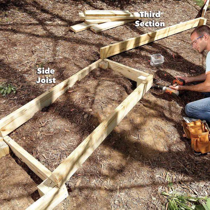 add other side of boardwalk joist
