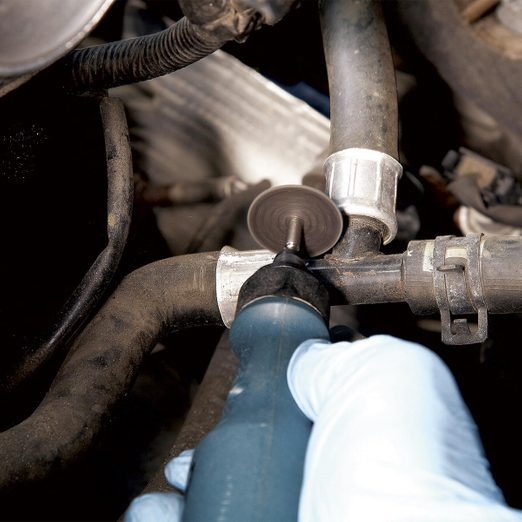 replace leaky heater hose