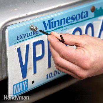 license plate security screws
