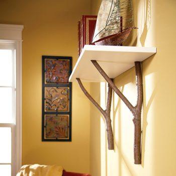 tree branch shelf