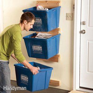 Garage Organization: Create Recycle Bin Hangers