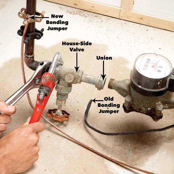 loosen old water valve